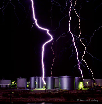 lightning hits tank farm